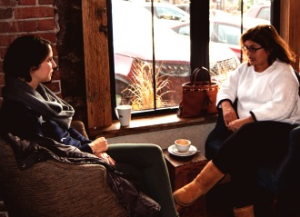 ii coffee shop two women