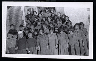 Students at Blue Quills Residential School