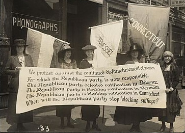 Suffragists Protest Against Disenfranchisement