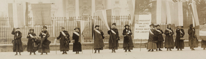 National Womens' Party picketing