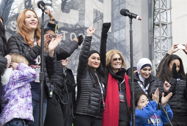 Gloria Steinem at Women's March, Photo by Jenny Warburg